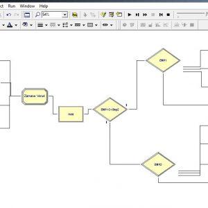 پروژه شبیه سازی سیستم کارخانه تولیدی پوشاک بخش حسابداری با ۲ سرویس دهنده در ارنا(Arena)