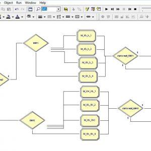 پروژه شبیه سازی سیستم کارخانه تولیدی ترشی بخش مدیریت با ۲ سرویس دهنده در ارنا(Arena)
