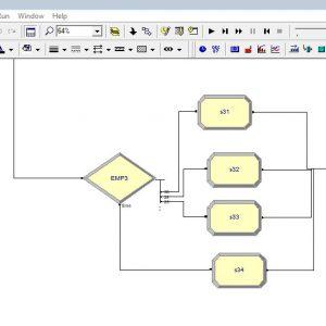 پروژه شبیه سازی سیستم فروشگاه آنلاین بخش فروش با ۳ سرویس دهنده در ارنا(Arena)