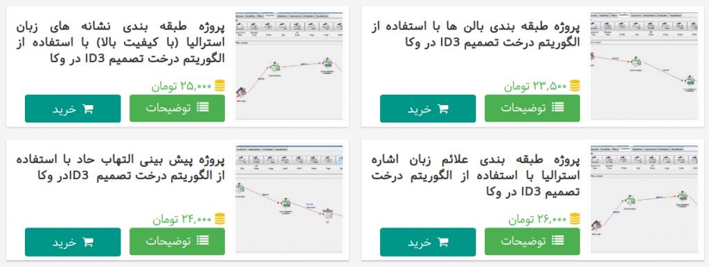 راهنمای خرید پروژه از سایت ناب لرنینگ، مرحله انتخاب محصول(پروژه)