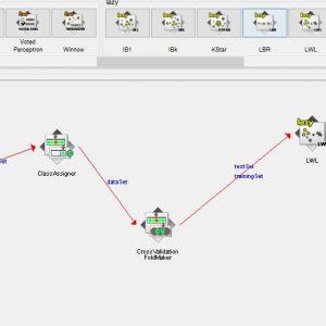 پروژه تشخیص بیماری پارکینسون با استفاده از الگوریتم LWL در وکا