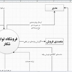 تجزیه و تحلیل سیستم فروشگاه لوازم شکار با ویزیو