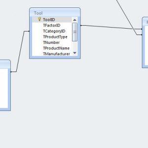 نمودار ER سیستم ابزار فروشی با اکسس